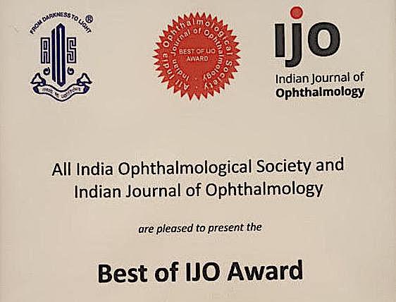 ECF Research wins Best of IJO Award!
